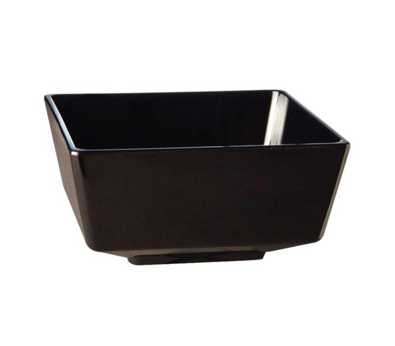 APS Float Vierkante Kom | Zwart Melamine | 205mm