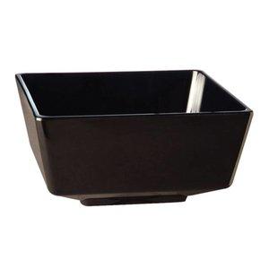 XXLselect Float Vierkante Kom | Zwart Melamine | 55mm