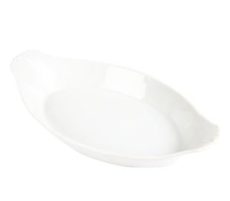 Olympia Oval gratin dish | White Porcelain | 260x140mm | 6 pieces