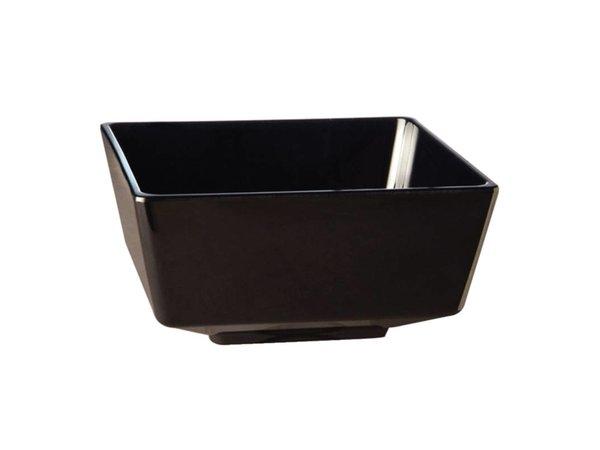 APS Float Vierkante Kom | Zwart Melamine | 90mm