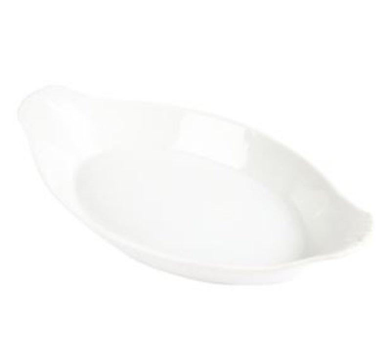 Olympia Oval Gratinform | Weißes Porzellan | 360x200mm | 6 Stück