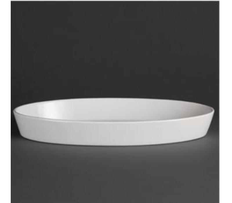 Olympia Ovale Ovenschaal | Olympia Wit Porselein | 195mm | 6 Stuks