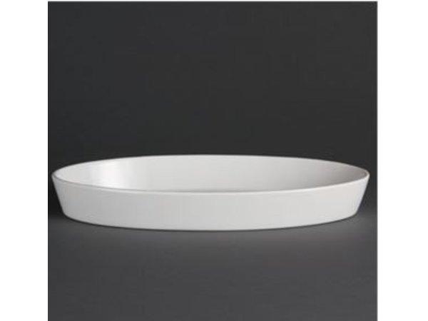 Olympia Ovale Ovenschaal | Olympia Wit Porselein | 330mm | 6 Stuks