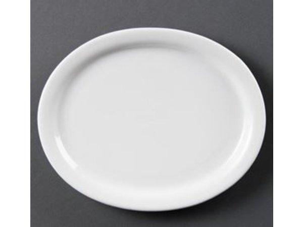 Olympia Oval Scale | Olympia White Porcelain | 250mm | 6 pieces