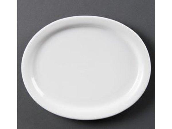 Olympia Oval-Skala | Olympia Weißes Porzellan | 250mm | 6 Stück