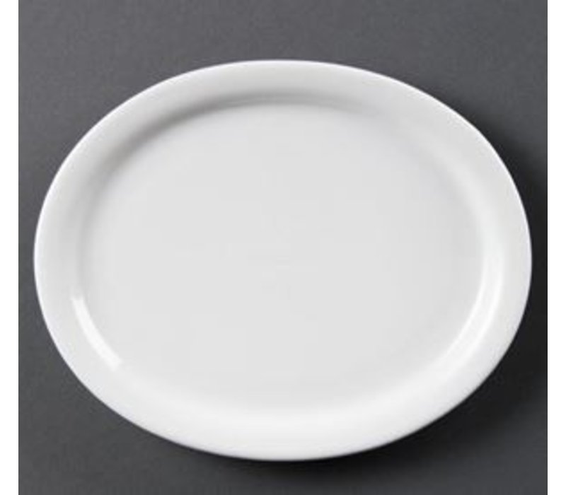 Olympia Oval Scale | Olympia White Porcelain | 295mm | 6 pieces