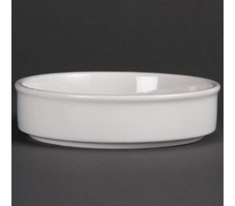 Olympia Schaal Stapelbaar | Olympia Wit Porselein | 134x30mm | 6 Stuks