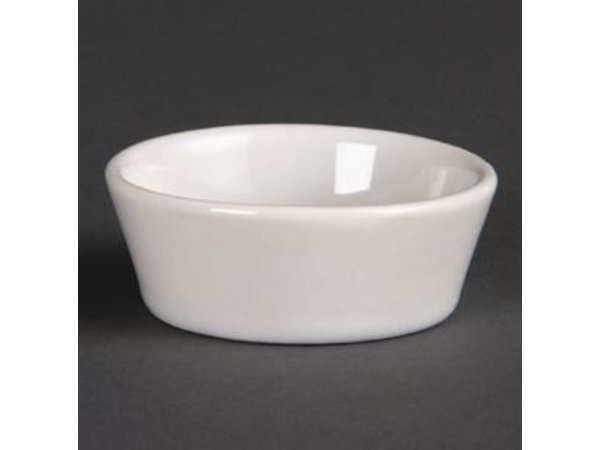 Olympia Conical Bowl   Olympia White Porcelain   90mm   12 pieces