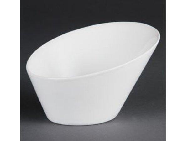 Olympia Oval Bowl | Olympia Weißes Porzellan | 200mm | 3 Stück