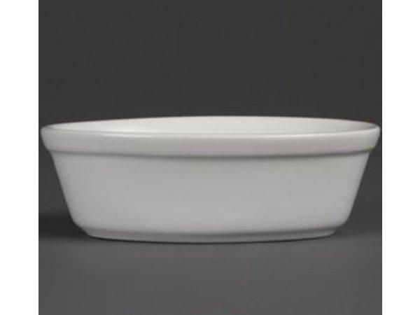 Olympia Pieform Oval | Weißes Porzellan | 52x161x116mm | 6 Stück