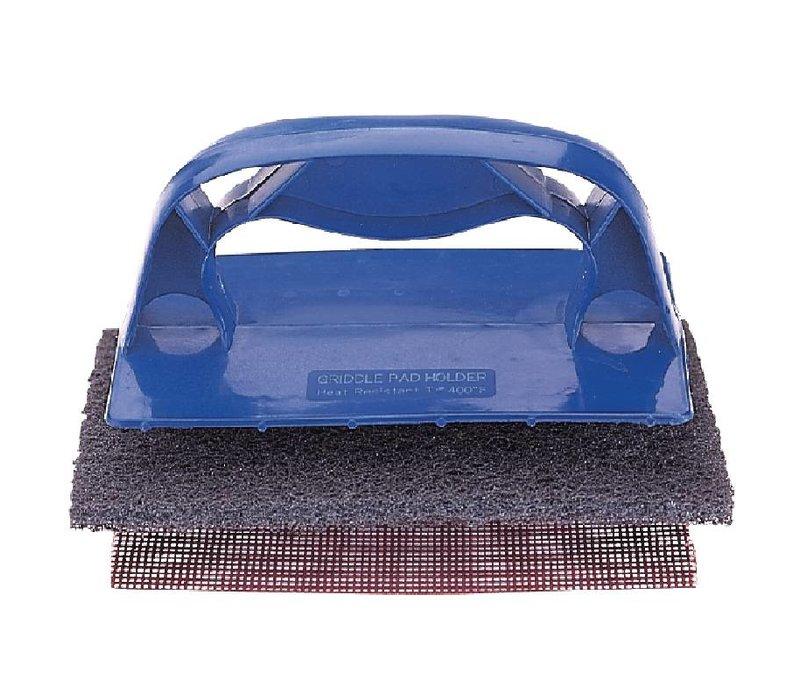 XXLselect Houder Reinigingssysteem voor Grillplaat | Blauw