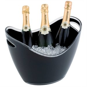 XXLselect Champagne Bowl | black | Max. 3 Bottles