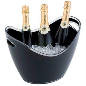XXLselect Champagne Schüssel | schwarz | Max. 3 Flaschen