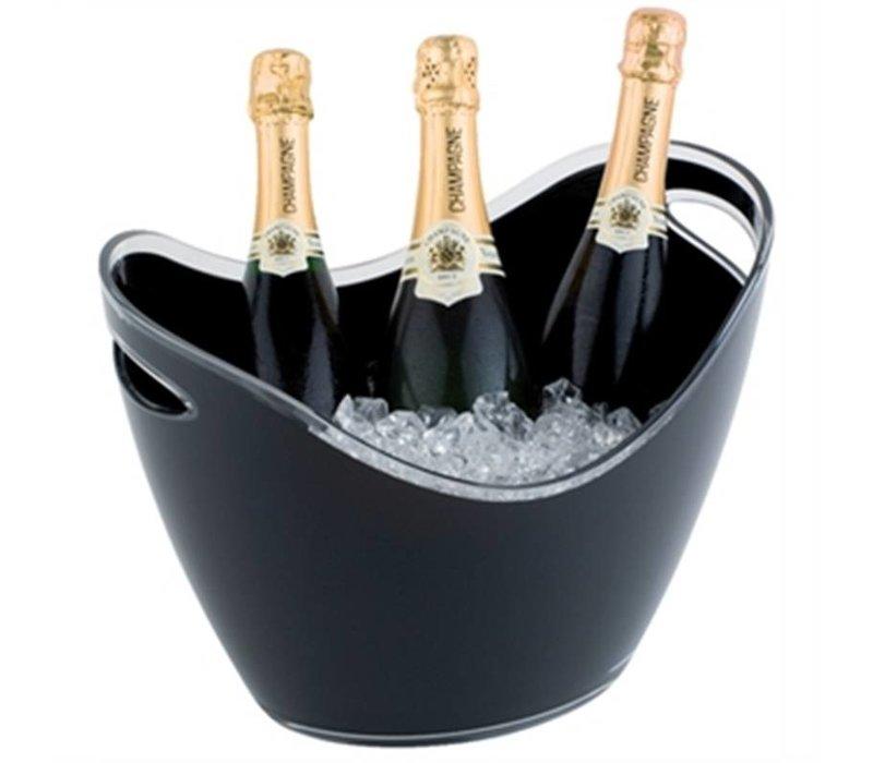 APS Champagne Schüssel   schwarz   Max. 3 Flaschen