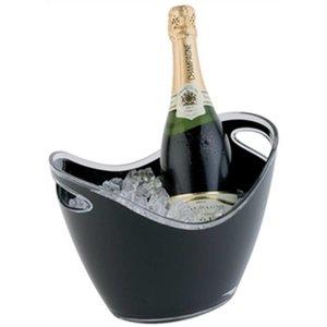 XXLselect Champagne Schüssel | schwarz | Max. 2 Flaschen