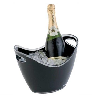APS Champagne Bowl | Zwart | Max. 2 Flessen