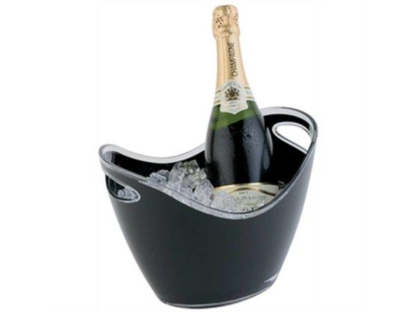 APS Champagne Schüssel | schwarz | Max. 2 Flaschen