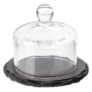 XXLselect Leisteen Schaal + Glazen Stolp | 105mm
