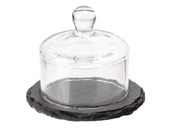 APS Leisteen Schaal + Glazen Stolp | 105mm