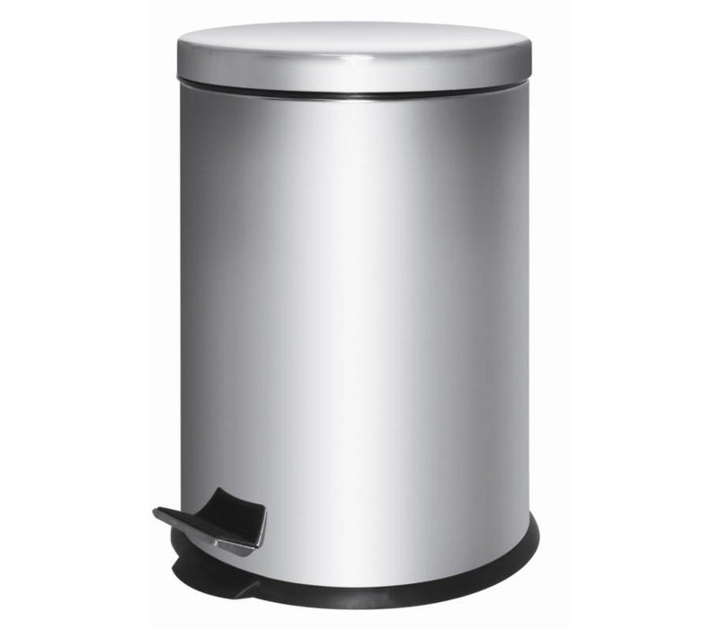 XXLselect Pedal Bin Stainless Steel   5 liter