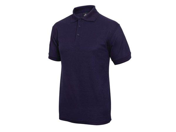 XXLselect Poloshirt Korte Mouw   Donkerblauw   Katoen   Beschikbaar in 4 Maten