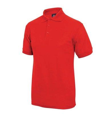 XXLselect Poloshirt Korte Mouw | Rood | Katoen | Beschikbaar in 4 Maten