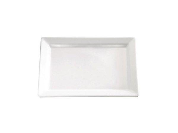 APS Pure Schaal Rechthoekig   Wit Melamine   530x180mm