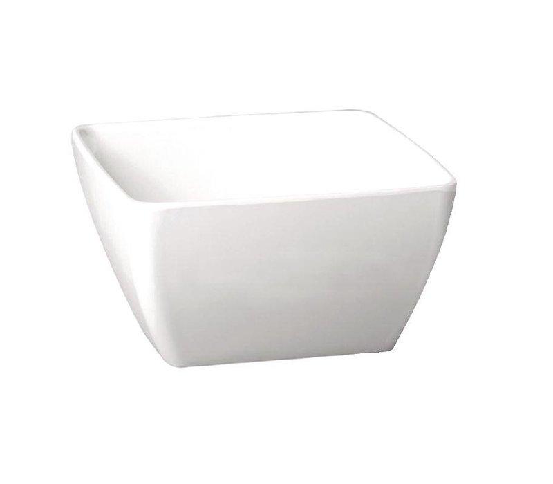 APS Pure Vierkante Kom | Wit Melamine | 190x190mm