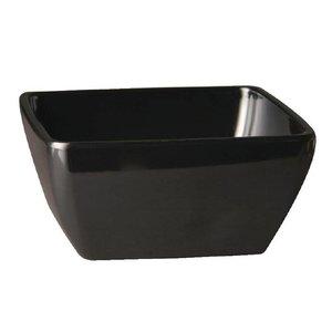 XXLselect Pure Vierkante Kom | Zwart Melamine | 125x125mm