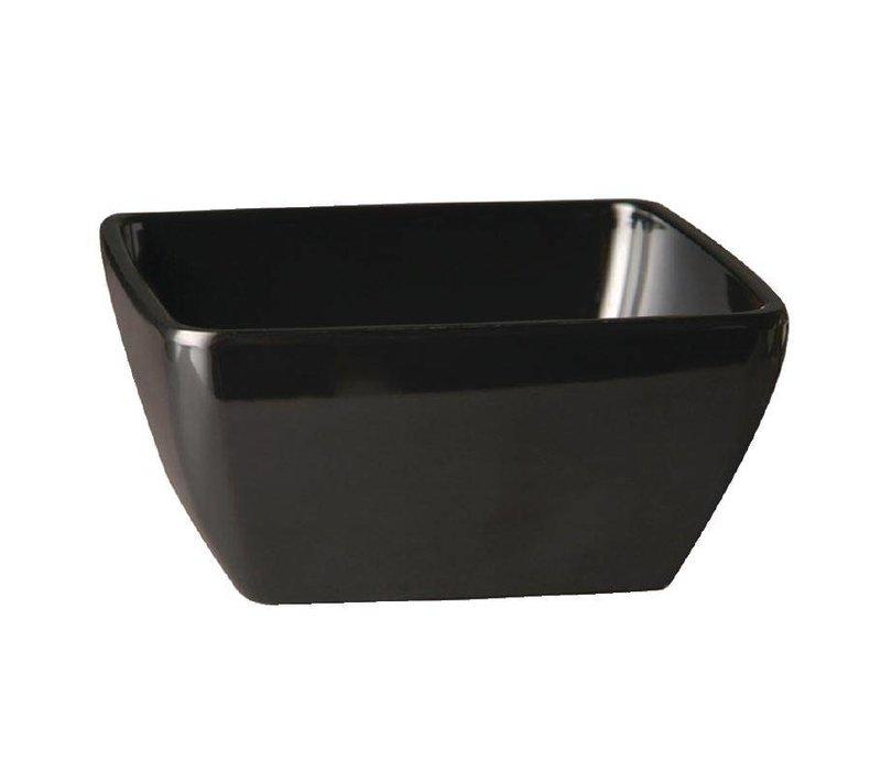 APS Pure Vierkante Kom | Zwart Melamine | 190x190mm