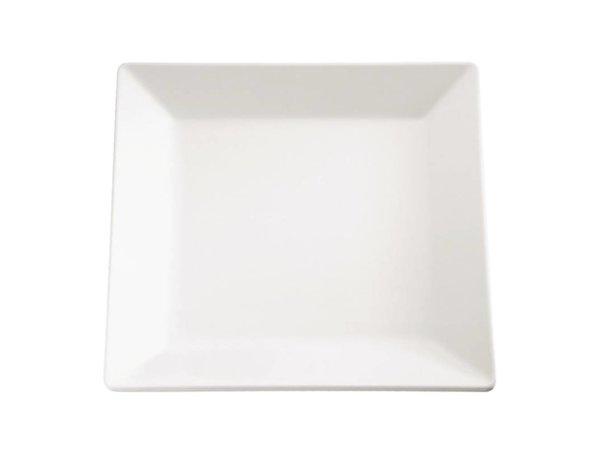 APS Pure Vierkante Schaal | Wit Melamine | 210x210mm