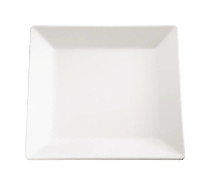 APS Pure Vierkante Schaal | Wit Melamine | 265x265mm