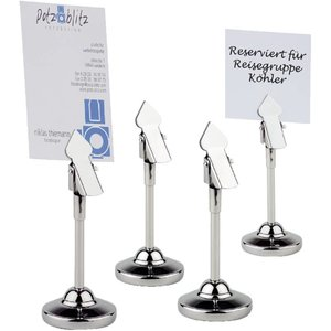 XXLselect Table Number holder SS | Incl. 20 White Cards | 4 pieces
