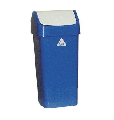 Scot Young Afvalbak met Schommeldeksel | 50 Liter| Blauw