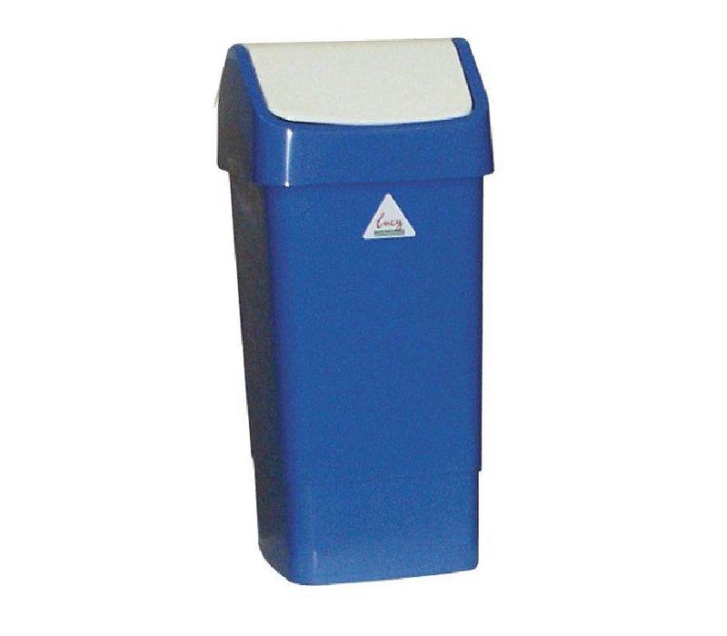 XXLselect Afvalbak met Schommeldeksel | 50 Liter| Blauw