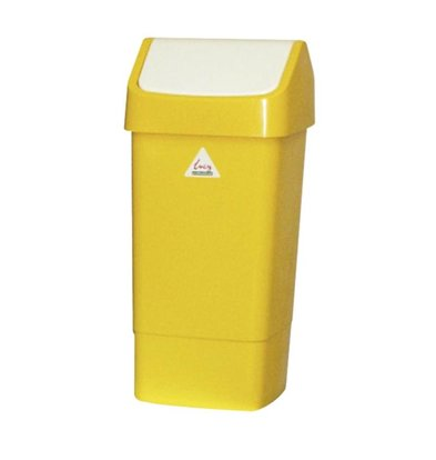 Scot Young Waste bin with Swing lid 50 liters Yellow