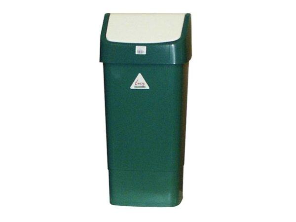 XXLselect Afvalbak met Schommeldeksel | 50 Liter| Groen