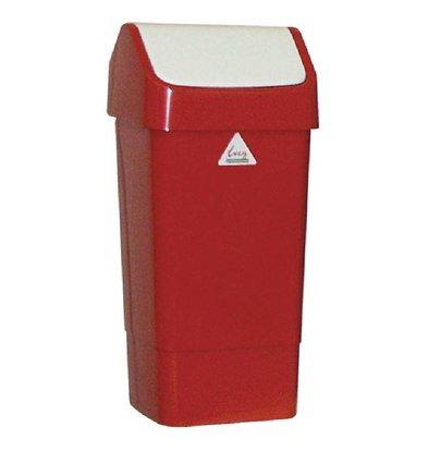 SYR Afvalbak met Schommeldeksel | 50 Liter| Rood