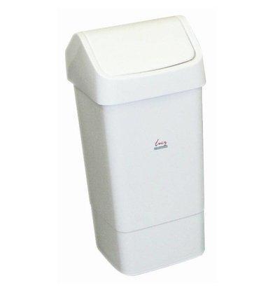 XXLselect Afvalemmer met Tuimeldeksel | 50 Liter | Wit