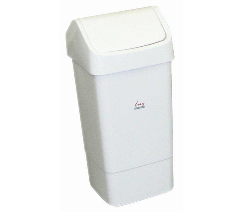 XXLselect Afvalemmer met Tuimeldeksel   50 Liter   Wit