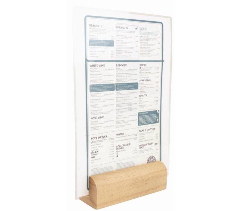 XXLselect Menukaarthouder Licht Hout | T&G Woodware