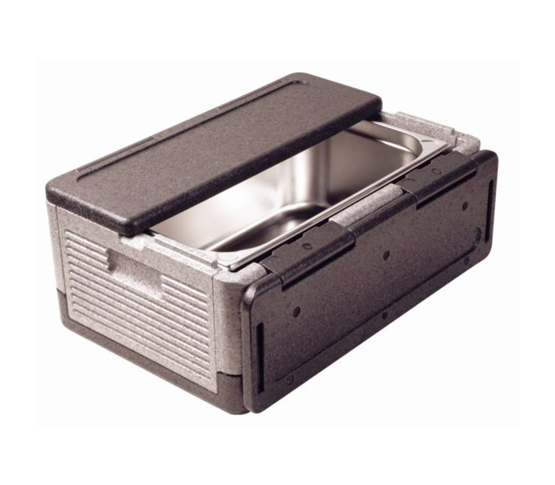XXLselect Thermo Future Box Zwart   Opklapbaar GN1/1   38 Liter