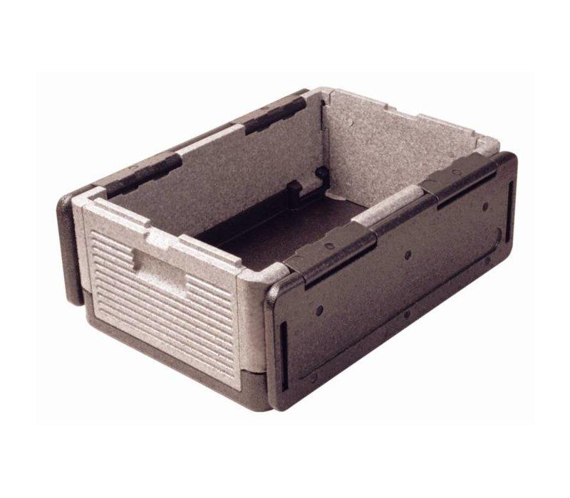 XXLselect Thermo Future Box Zwart | Opklapbaar GN1/1 | 38 Liter