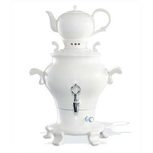 XXLselect BEEM Samovar Trendy Odette - maker / Kettle - Porcelain White - 5 Litre