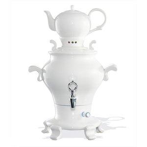 XXLselect BEEM Samovar Trendy Odette - Theezetapparaat / Waterkoker - Porselein wit - 5 Liter
