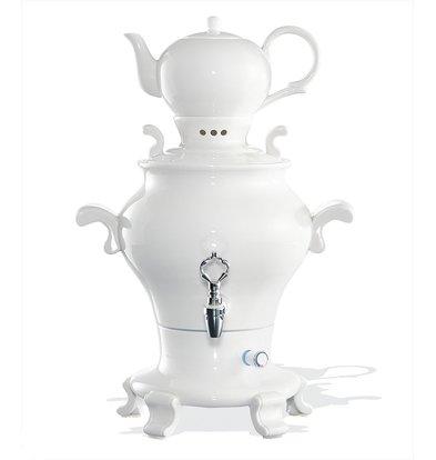 XXLselect BEEM Samovar Trendy Odette - Hersteller / Kettle - Porzellan weiß - 5 Liter