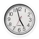 XXLselect Kitchen Clock | White ABS | Ø240mm