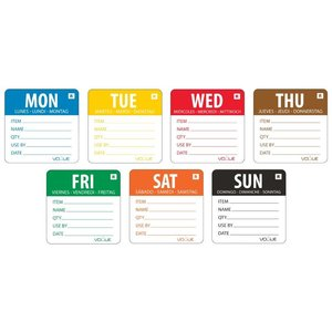 XXLselect Kleurcode Week Stickers | 7 Rollen x 500 Stickers