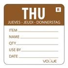 XXLselect Kleurcode-Sticker Donderdag | Bruin | per 500