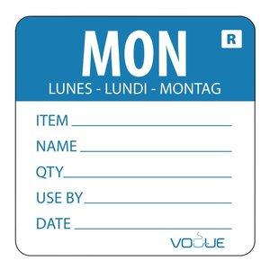 XXLselect Kleurcode-Sticker Maandag | Blauw | per 500